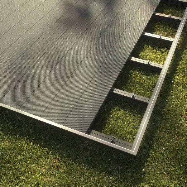 kobrax wpc terrase komplettset basaltgrau 2 600x600 - KobraX WPC Terrasse BASIC – Quarzgrau 3x3m