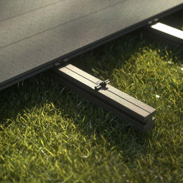 kobrax wpc terrase komplettset basaltgrau 3 600x600 - KobraX WPC Terrasse BASIC – Quarzgrau 3x3m