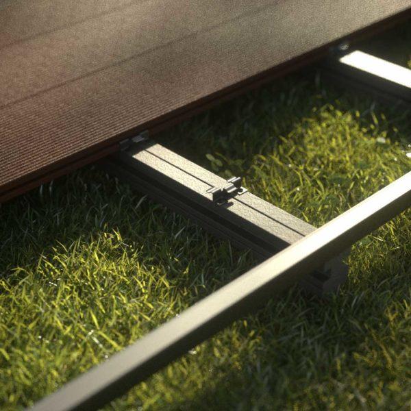 kobrax wpc terrase komplettset ebenholz 2 600x600 - KobraX WPC Terrasse BASIC – Ebenholz 3x3m