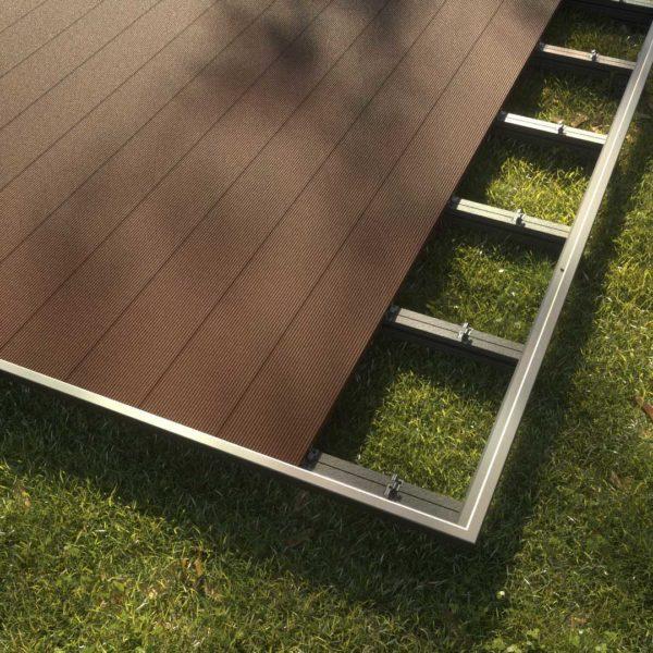 kobrax wpc terrase komplettset ebenholz 3 600x600 - KobraX WPC Terrasse BASIC – Ebenholz 3x3m