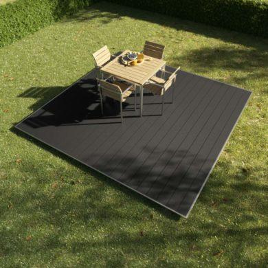 kobrax wpc terrassenkomplettset 3x3 anthrazit 390x390 - KobraX WPC Terrasse BASIC – Anthrazit 3x3m