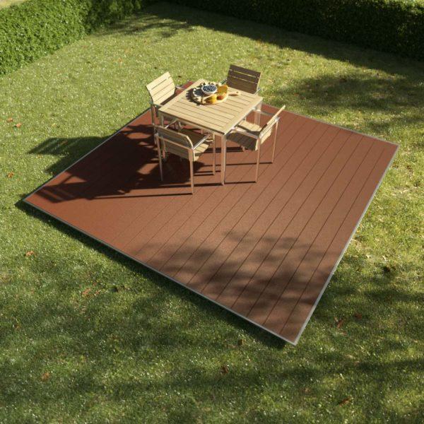 kobrax wpc terrassenkomplettset 3x3 bankirai 600x600 - KobraX WPC Terrasse BASIC – Bankirai 3x3m
