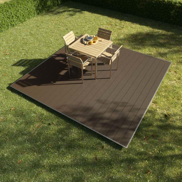 kobrax wpc terrassenkomplettset 3x3 ebenholz 600x600 - KobraX WPC Terrasse BASIC – Ebenholz 3x3m