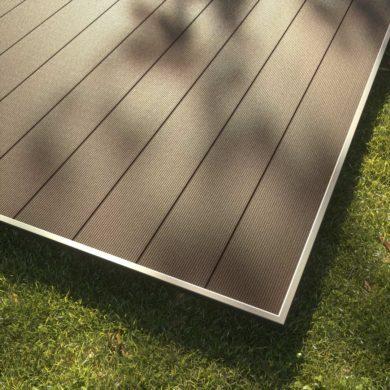 KobraX WPC Terrasse LIGHT – Ebenholz Komplettset