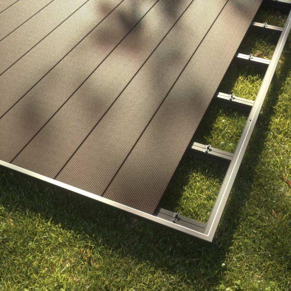 kobrax wpc hohlkammer ebenholz 2 600x600 - KobraX WPC Terrasse LIGHT – Ebenholz Komplettset