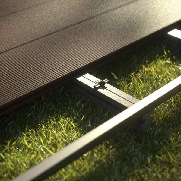 kobrax wpc hohlkammer ebenholz 3 600x600 - KobraX WPC Terrasse LIGHT – Ebenholz Komplettset