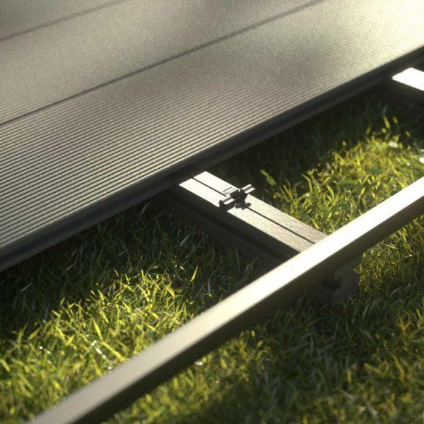kobrax wpc hohlkammer kpl quarzrgrau 3 600x600 - KobraX WPC Terrasse LIGHT – Quarzgrau Komplettset
