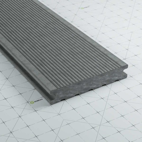 kobrax wpc terrassendielen premium basaltgrau 600x600 - KobraX WPC Premium Dielen Restposten je 275 cm