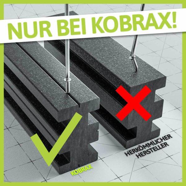 NEU: KobraX WPC Terrasse LIGHT – Sand Komplettset