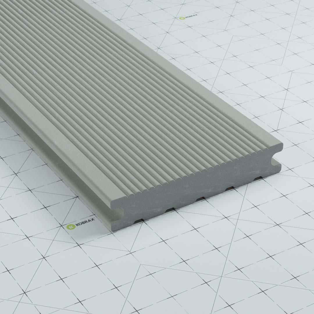 kobrax wpc terrassendielen premium lichtgrau - WPC Terrassendielen Musterbestellung